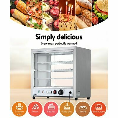 Commercial Food Warmer 4 Tier Display Stainless Steel Tray Adjustable Thermostat
