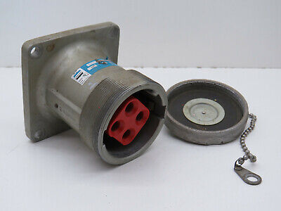Crouse-Hinds AR644 M72 Arktite Pin Sleeve Receptacle 60-Amp 3W 4P 600VAC 250VDC