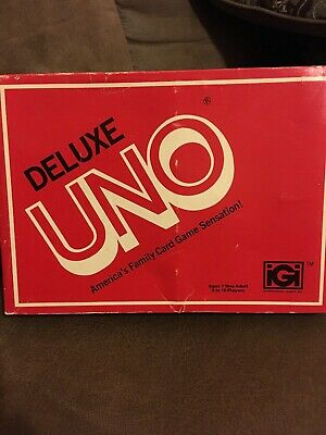 Brand New Mattel Deluxe UNO Edition Card Game Vintage 1978 Retro Family Party