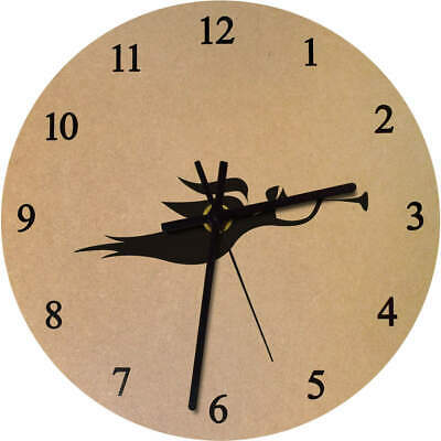 275mm 'Angel With Trumpet' Large Wooden Clock (CK00013141)