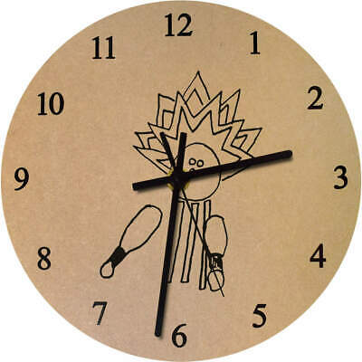 275mm 'Bowling Strike' Large Wooden Clock (CK00015069)