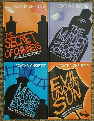 Agatha Christie ; Four Graphic Novels , Like new, 2007 and 2013, First Editions.