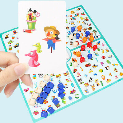 Fun Looking Chart Board Brain Training Education Game Family Kids Detectives