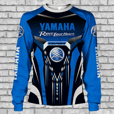 YAMAHA MOTORCYCLES-Top Gift-Man/'s Long Sleeved 3D-SIZE S TO 5XL