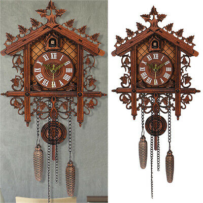 Europea Cuckoo Clock House Clock Wall Large Art Modern Vintage Decor Home New UK