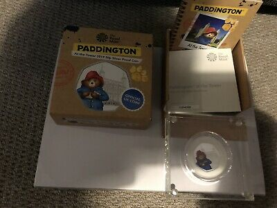 Paddington Bear at the tower of London 50p silver proof coin with Coa