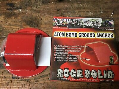 Motohart Motorcycle Bike Scooter Rock Solid Atom Bomb Ground Anchor Bolts SALE
