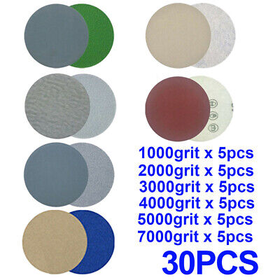 5 inch Sanding disc Silicon Carbide Wet & dry Hook and Loop Sander Stone