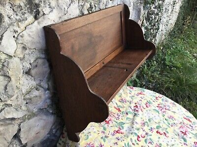 ANTIQUE French kitchen shelf Utensil storage Wooden Handmade Wall Cabinet Rustic