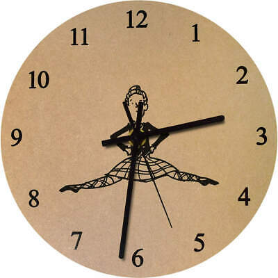 275mm 'Highland Dancer' Large Wooden Clock (CK00011803)