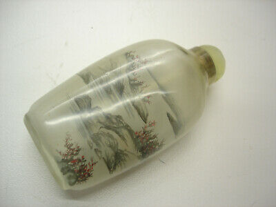 Chinese gorgeous antique Snuff Bottle Scent Bottle Reverse Handpainted Nice LOOK