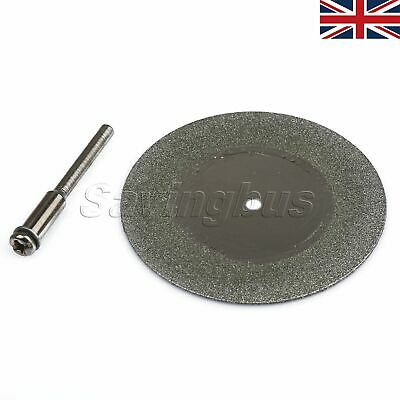 5x 50mm Diamond Cut Cutting Off Wheel Discs Grinding Blade Mandrel Rotary Tool