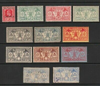 New Hebrides 1908-1925 Selected Mint & Used Stamps (French & English Types)
