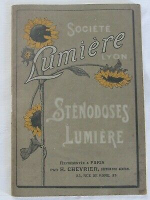 04F59 Rare Vintage Catalogue Notice Board Lumière Sténodoses Camera