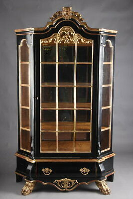 Dutch Display Cases Wardrobe in Baroque Style Ebonised