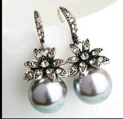 925 Sterling Silver Nickle//Lead Free Round Big Pearl Stud Post Earring H1257