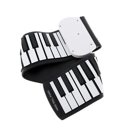 37 Keys Silicon Flexible Hand Roll Up Piano Soft Portable Electronic Keyboa L3H6