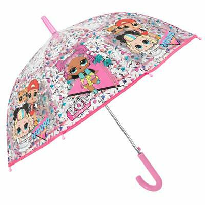 LOL Surprise Clear Automatic Umbrella Brolly 74CM - PINK