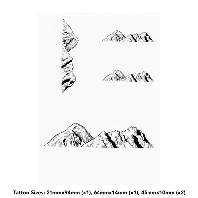 'Mountains' Temporary Tattoos (TO015268)