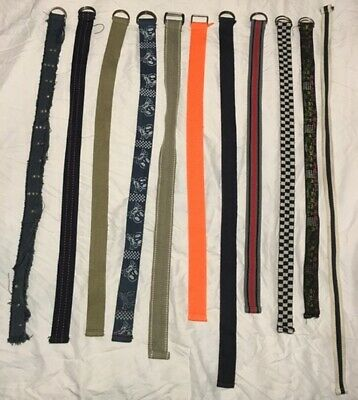 "Joblot 11 x Boys Fabric D-Ring Buckle Belts Size 28""-35"" Age 6 8 10 Years (C1)"