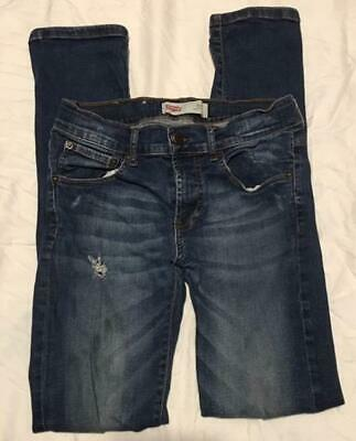 Levi's Levi Strauss 510 Blue Denim Stretchy Skinny Fit Leg Jeans Age 16 Years C1