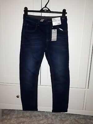 George Aged 9-10 Years  Blue Tapered Jeans New With Tags