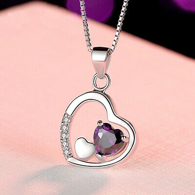 REAL SOLID SILVER 925 Classic Sterling Silver Necklace & Pendant  Heart-070