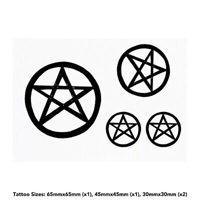 'Pentagram Star' Temporary Tattoos (TO017740)