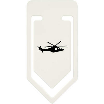 'Helicopter Silhouette' Plastic Paper Clip (CC018398)