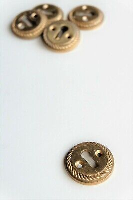 "Heavy cast brass decorative rope edge door keyhole escutcheon 1 1/2"" [RP4]"