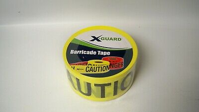 "X-Guard 1649-5210 Yellow ""Caution"" Barricade Tape, 3"" x 1000'"