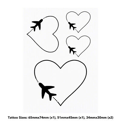'Love Travel' Temporary Tattoos (TO019892)