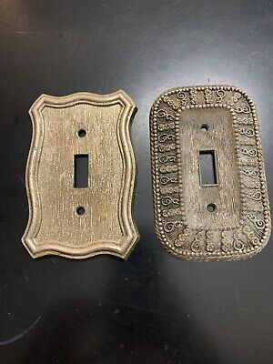 Vintage American Tack & Hardware Switch Plate Covers Ornate 2