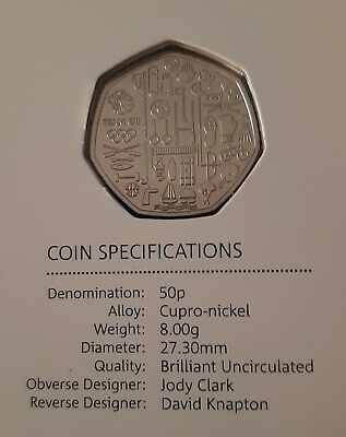 2020 Team GB Olympics Bu 50p Brilliant Uncirculated Royal Mint 50 Pence Coin
