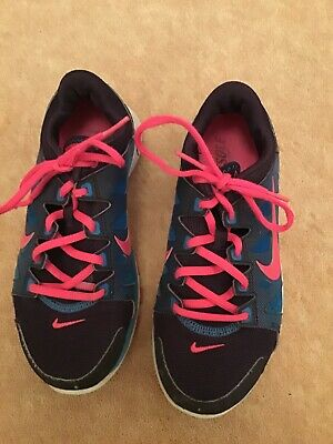 Nike Girls Trainers, Blue And Pink, Size 3