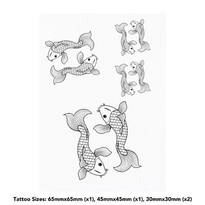 'Koi Carp' Temporary Tattoos (TO020957)