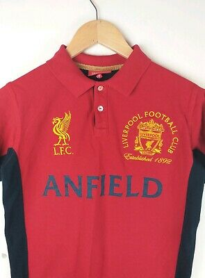 LFC Liverpool Official Kids Red Polo Tshirt Size 11-12 Yrs  Anfield No 9 Striker