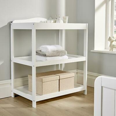 Regent White Pine Baby Changing Table Nursery Wooden Dresser Station 2 Shelves