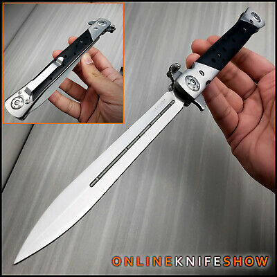"13"" Extra Large Milano Big Boy Stiletto Blade Assisted Open Folding Pocket Knife"