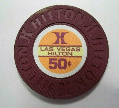 Las Vegas Hilton Casino 50 Cents Poker Gaming Chip Las Vegas