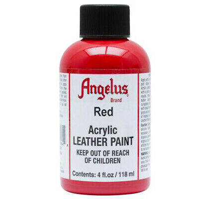 C--064 Angelus Brand Acrylic Leather  Paint Shoe Boots Bags 4 Oz. Red
