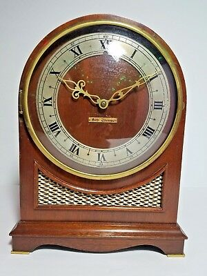 Seth Thomas Westminster Chime Clock Mantle Electric Clock 5 Rod Vintage Antique