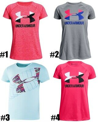 New Under Armour Girls Logo-Print Shirt Choose Size and Color