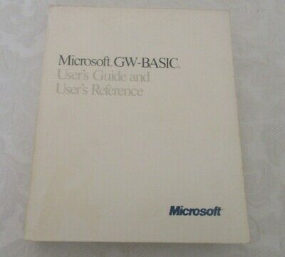 Microsoft GW-Basic user's guide & user's reference manual PB 1987