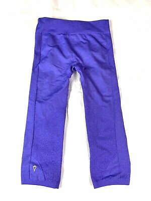 Ivivva Girls Seamless Stretch Pants Size 10 Purple Fitted