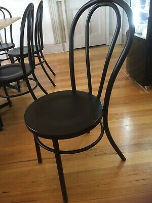 bentwood dining chairs X 8 Black Matte