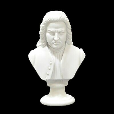 Bach Composer Bust /Statue /Figurine Crushed Marble - Various Sizes