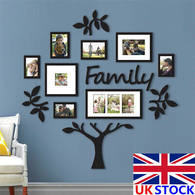 Personalised Large Family Tree Photo Frame Picture Collage Stickers Home Decor