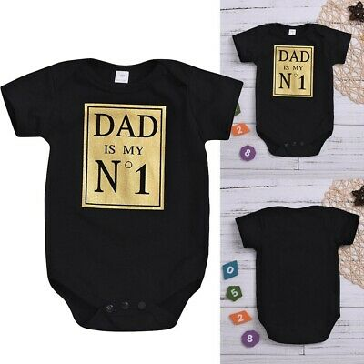 Newborn Infant Baby Boys Girls Letter Print Simple Style Romper Bodysuit Outfit