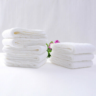 10PC Reusable Modern Soft Cloth Baby Diaper Nappy Liners Insert 3 Layers Cotton